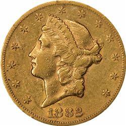 1882-CC $20. AU-50 NGC.