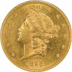 1896 $20. MS-62 PCGS.