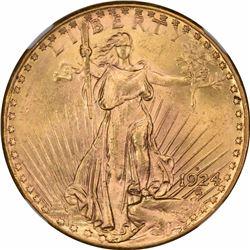 1924-D $20. MS-63 NGC.