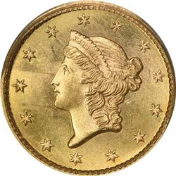 1852 G$1. MS-65 PCGS. CAC.