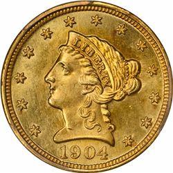 1904 G$2.5. MS-65 PCGS. CAC.