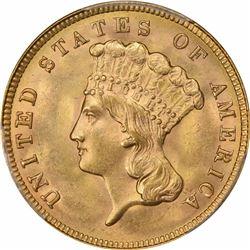 1888 G$3. MS-64+ PCGS. CAC.