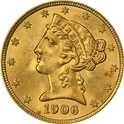 1906 G$5. MS-65 PCGS. CAC.