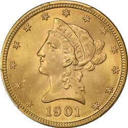 1901 G$10. MS-65 PCGS. CAC.