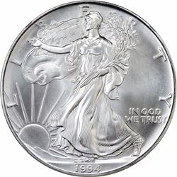 1994 American Eagle Silver $1. MS-70 NGC.