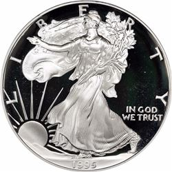 1995-W $1 Silver Eagle. Proof-69 DCAM PCGS.