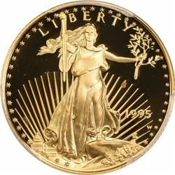 1995-W $10 Gold Eagle. Quarter Ounce. Proof-69 DCAM PCGS.