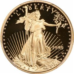 1995-W $5 Gold Eagle. Tenth Ounce. Proof-69 DCAM PCGS.
