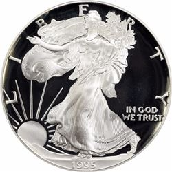 1995-W $1 Silver Eagle. One Ounce. Proof-69 DCAM PCGS.