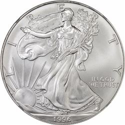 1996 American Eagle Silver $1. MS-70 NGC.