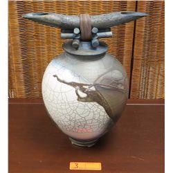 """Jeff Chang Raku Pottery, 2004 - Approx. 16"""" H"""