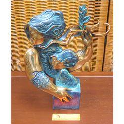 """Maternity"" Sculpture by Alvar Sunal, Ltd. Ed. 36 of 99, Approx. 13"" H, 10"" W"