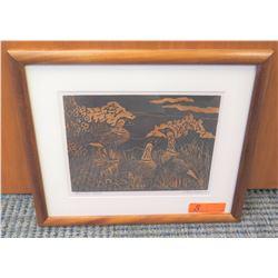 "Framed Art: Original ""Hahaheo Nene"", Artist-Signed, Original Signature, 19"" x 16"""