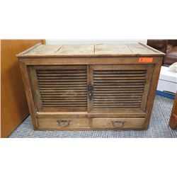 """Furniture - Rustic Wood Cabinet w/Drawers, 37.25"""" x 19.75"""" x 24.5"""" (termite damage, recently profess"""