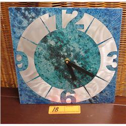 """Aluminum Wall Clock, """"Burly"""" from KronosWorks, Hudson River Valley, NY, 10.5"""" x 10.5"""""""