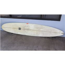 Surfboard: Campbell Bros., White Longboard, 5 Fins
