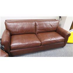 Furniture - Chocolate Brown Leather Sofa