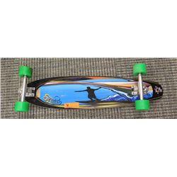 "Skateboard - Sectoe, Blue/Black ""Surfer"" Graphics, ABEC 11 Wheels, 34"" L"
