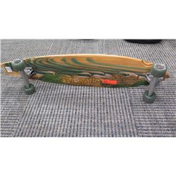 Skateboard -  Natural Wood  Look w/Beach Scene  39.5  L