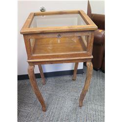 Furniture - Antique Display Case, Origin Unknown, Has Wobbly Leg, 21.5  x 21.5  x 36.5