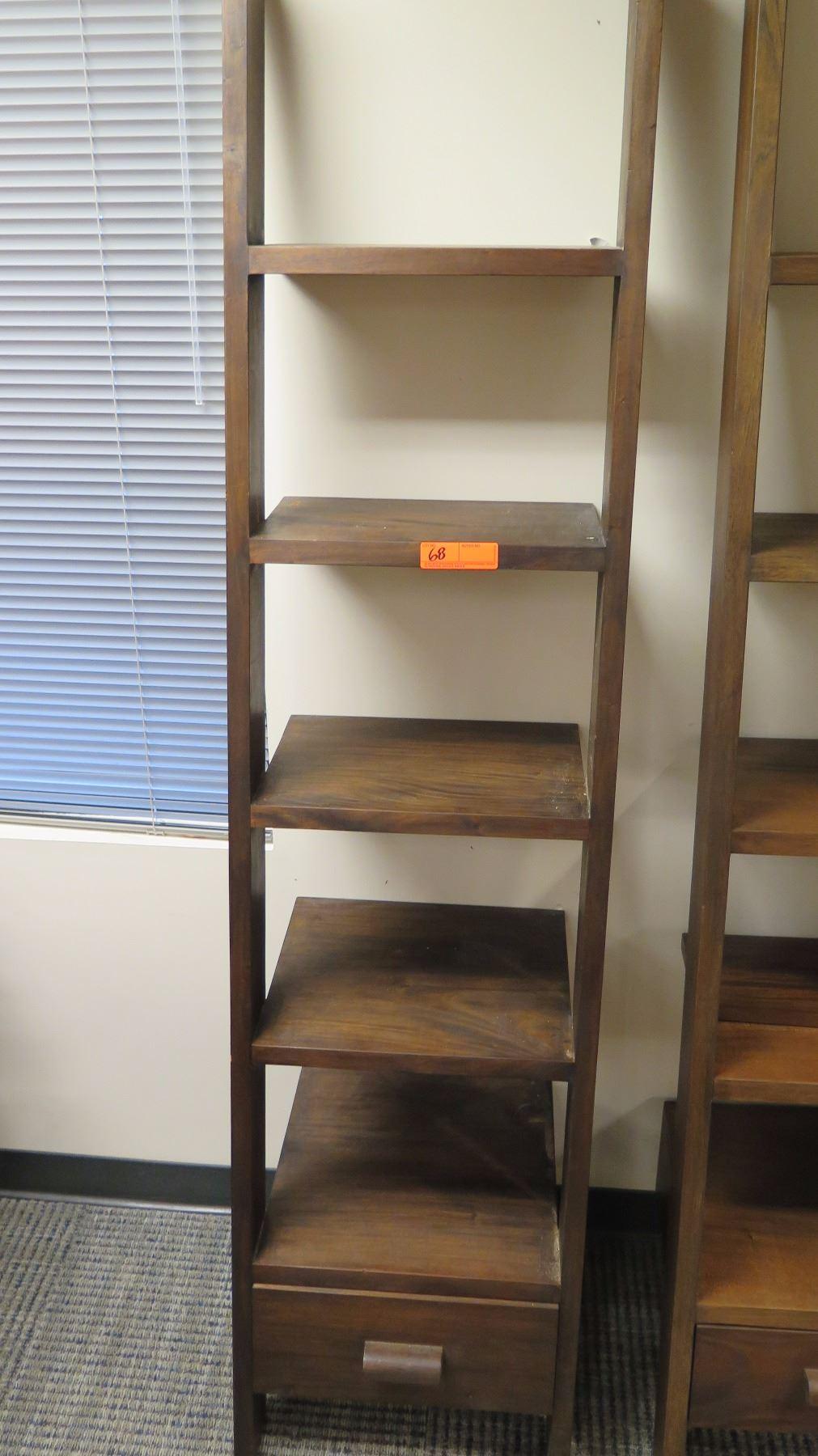 Image 1 Furniture Wooden Shelving Unit 5 Shelves Bottom Drawer