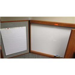 Dry Erase Board w/Cabinet Encasement, Easel Pad, Memo Board 62 x 42 x 48