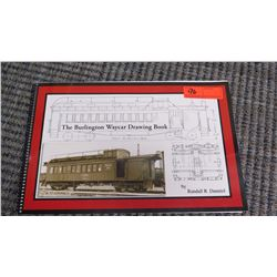 Book: The Burlington Waycar Drawing Book by Randall R. Danniel