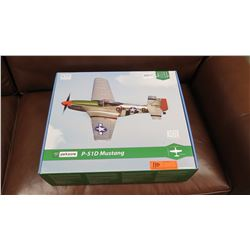 Model Airplane - Mustang P-51D Ultra Micro Series w/Remote, Unused