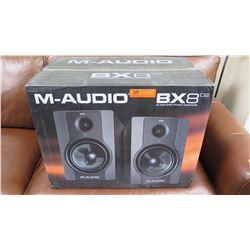Pair: M-Audio BX8 D2 Powered Bi-Amplified Studio Monitors