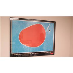 "Framed Art: Abstract Print, Miro ""Flight of the Dragonfly Before the Sun"", National Gallery of Art A"