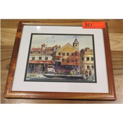 Framed Art: Watercolor, by Spencer Chang 2008, Signed