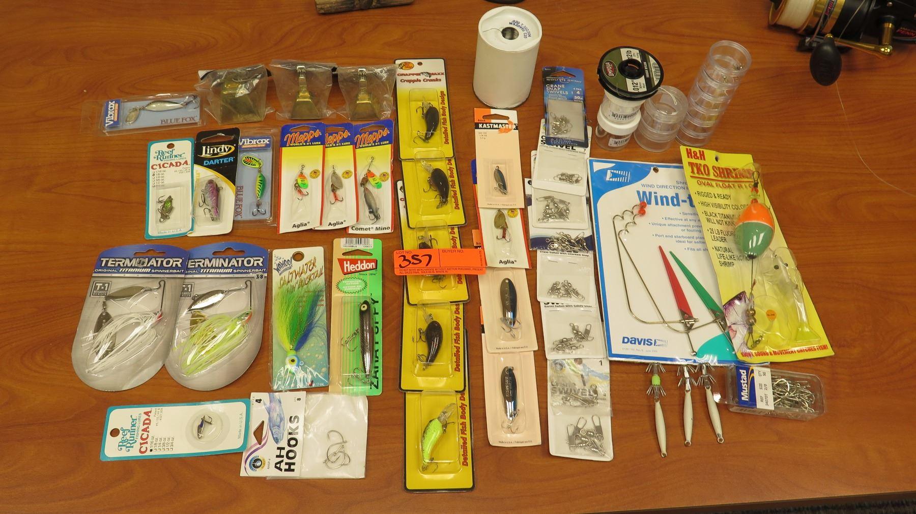 Misc  Fishing Lures, Titanium Spinner Bait, Swivels, Hooks