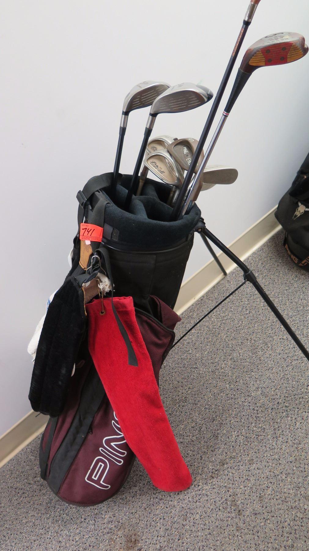 Golf Clubs & Golf Bag - Misc  Irons & Woods, (TaylorMade