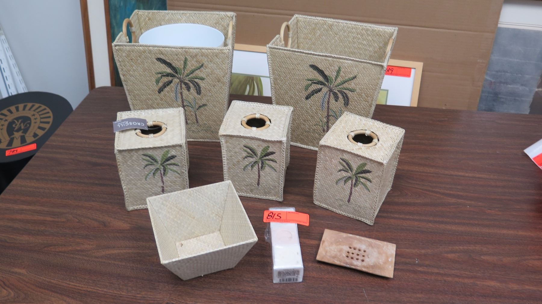 Palm Tree Bathroom Accessories 8pc