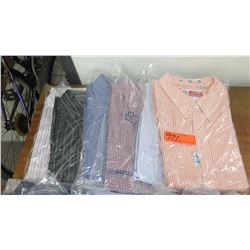 QTY 6 Men's Collared Shirts, Drycleaned, Sz L & XL (Brioni, Scott Barber, Jhanebarnes etc)