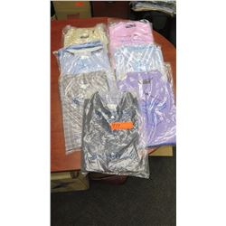QTY 7 Men's Collared Shirts, Drycleaned, Sz L & XL (Brioni, Ermenegildo Zegna, Jhanebarnes, etc)