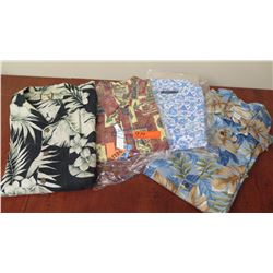 Qty 4 Men's Collared Shirts, All Size XXL (Reyn Spooner, Tommy Bahama, Zegna, etc.)