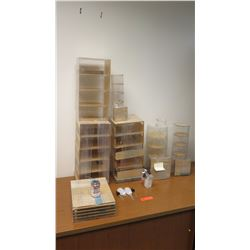Large of Individual Plexiglass Containers, Display Cases, Various Shapes/Sizes