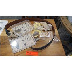 Fossils: Shark's Teeth (N. America), Dinosaur Dung, Dinosaur Egg Shell, Shark Tooth Belt Buckle