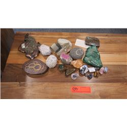 Misc. Geodes, Minerals, Polished Gemstones, Titanium, Rocks w/Fossils