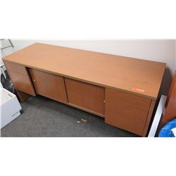 Wooden Credenza w/Cabinet & Drawers, 24 x 72 x 30 H
