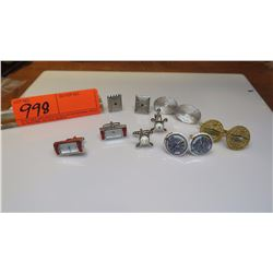 Cuff Links - 6 Pairs, Altimeter, Obama Inauguration, Watch, etc.