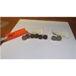 Cuff Links - Indian Head Pennies (1859-1909), Buffallo Nickel (1913-138)