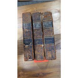 """Antique Books: """"Cook's Last Voyage"""" Complete 3-Volume Set, 1787 Handwritten Inscriptions"""