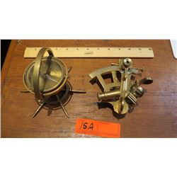 Brass Compass and Sextant
