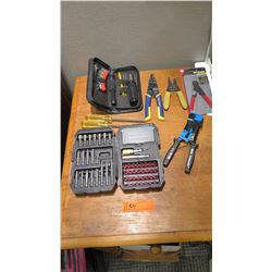 Qty 8: Craftsman Drill Bit Set, Automatic Screwdriver w/ Multiple Tips, 2 Screwdrivers, 4 sets of Wi