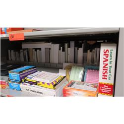 Large Book Collection - 1 Shelf Foreign Language Flash Cards, Books, CDs