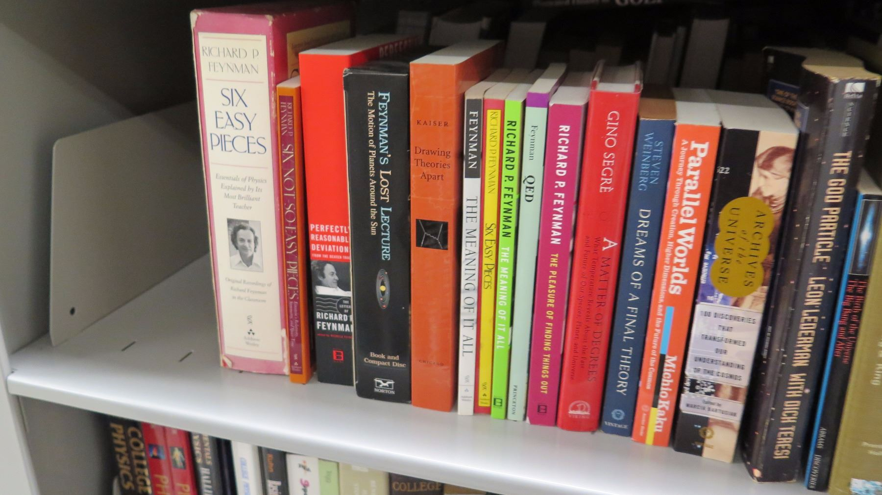 Large Collection of Books - 3 Shelves Various Physics Books