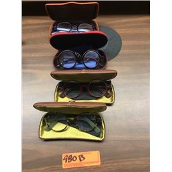 4 Prs. Eyewear: Morgenthal NY, Rims & Goggles (Italy), etc. - Various Colors, Rx Lenses