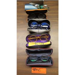 5 Prs. Eyewear: 4 Morgenthal NY, 1 Rims & Goggles (Italy), etc. - Various Colors, Rx Lenses